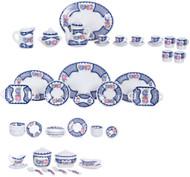 Tea Set - Blue Trim