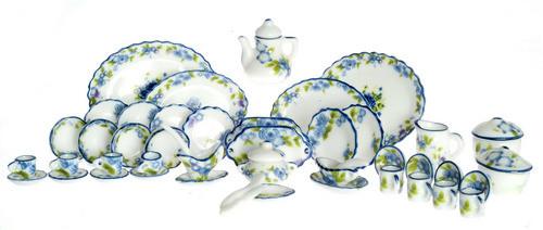 Tea Set - Blue Floral