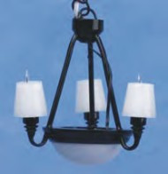 Americana Chandelier - Black Shade