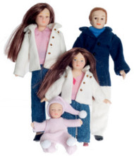 Porcelain Doll Family Set