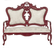 Dollhouse City - Dollhouse Miniatures Fancy Victorian Sofa -  Mahogany