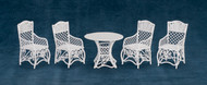 Dollhouse City - Dollhouse Miniatures Table and Chair Set - White Wire