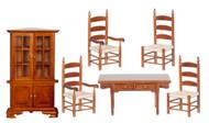 Dining Room Set 6 - Walnut