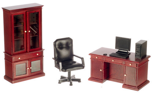 Desk Set - Mahogany