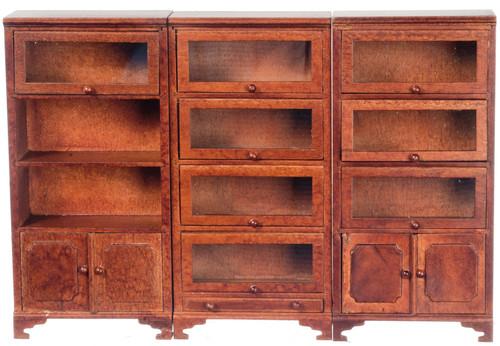 Lawyers Bookcases - Walnut