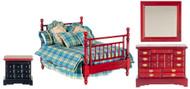 Double Bedroom Set - Mahogany