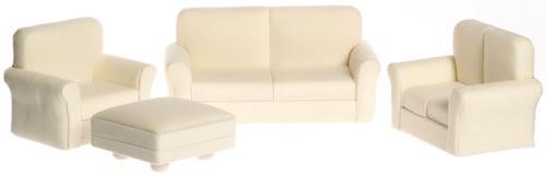 Living Room Set  - White