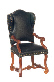 Spanish Armchair - Black and Walnut
