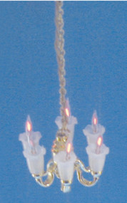 Dollhouse City - Dollhouse Miniatures 6-Arm Tulip Chandelier
