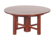Mission Round Cocktail Table