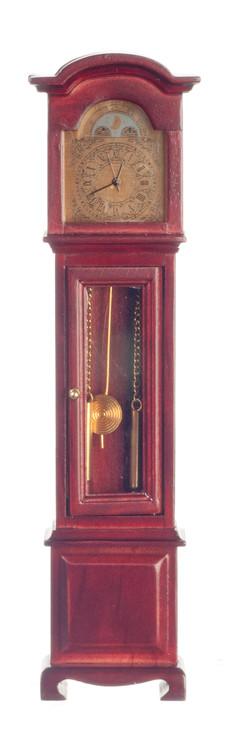 Dollhouse City - Dollhouse Miniatures Quartz Clock - Mahogany