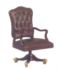 Governors Desk Chair - Mahogany