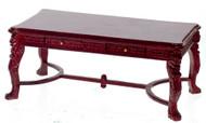 Lion Leg Desk - Red Mahogany