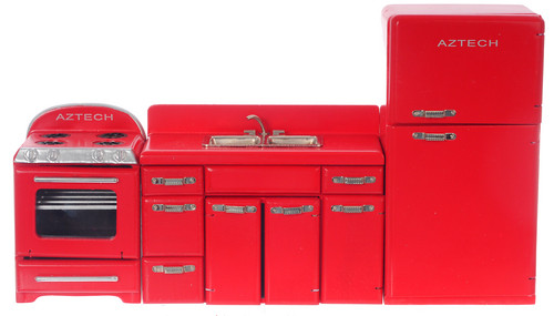 1950's Kitchen Set - Red