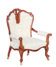 Armchair - White and Walnut