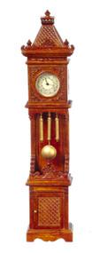 Battery Operated Working Grandfather Clock - Walnut