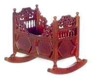 15th Century Rocking Cradle - Walnut