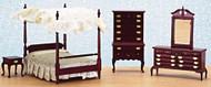 Canopy Bedroom Set - Mahogany