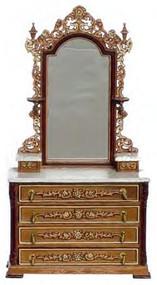 RI Mauldie Victorian Vanity - Walnut