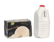 Vanilla Ice Cream Milk Set