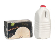 Vanilla Ice Cream Milk Set