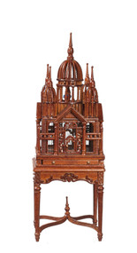 Victorian Table and Birdcage - Walnut