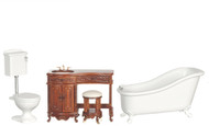 Avalon Bathroom Set - Walnut