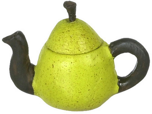Dollhouse City - Dollhouse Miniatures Green Pear Teapot