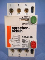 Sprecher Schuh (KTA3-25-1A) 0.63 to 1.0 Amp Motor Protection, New Surplus