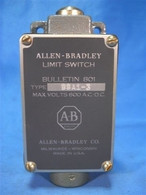 Allen Bradley (801-BSA1-3) Push Type Limit Switch, New Surplus