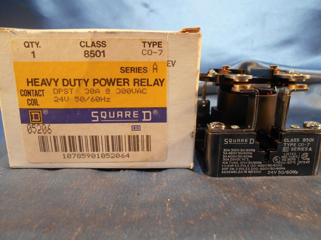 Square D Class 8501 Type Co 7 Series A Heavy Duty Power Relay New Electrical And Its Types Larger More Photos