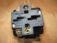 "HONEYWELL MICRO SWITCH CONTACT BLOCK (PTCD) ""NEW"""