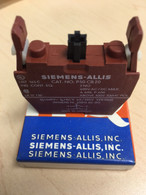 Siemens / Allis Contact Block P30CB20 2no 600 V.AC/DC Max, New in box