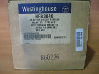 HFB3040 Westinghouse 3 pole 40 amp Circuit Breaker NEW