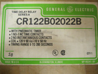 CR122B02022B  TIME DELAY RELAY & PNEUMATIC TIMER NEW