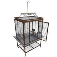 """Aluminum Play-Top Bird Cage 33 1/4""""x 24 7/8"""" x  75"""""""