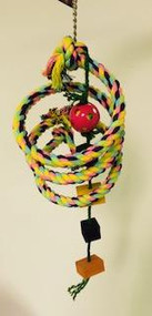 Boing Rope with Plastic Rattle Ball