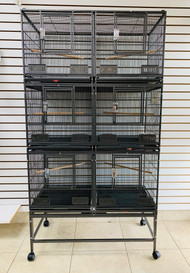 """40"""" x 20"""" x 68"""" Triple Stacked Bird Cage"""