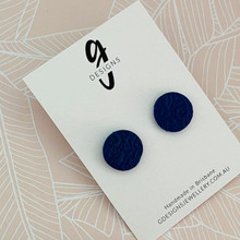 Statement Earrings - 'ANTIQUE LACE' - NAVY - MEGA STUDS
