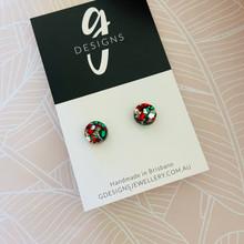 Mini Stud Earrings - Acrylic - Mini Circle - BON BON GLITTER
