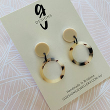 Statement Earrings  - Sand & Tortoise Shell