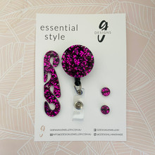 Essentials Set - Set of 3 - 'VIOLET GLITTER'