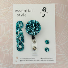 Essentials Set - Set of 3 - 'TEAL GLITTER'