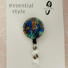 Retractable Badge Reel - Acrylic - 'WATERCOLOUR'