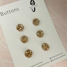 Buttons - 15mm Circle - 'LIGHT GOLD GLITTER'