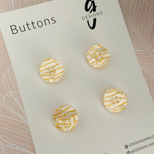Buttons - 20mm Circle - 'WHITE TUNNEL'