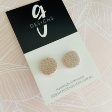 Stud Earrings - Clay - PALE PINK CLASSICS - Regular Size - Pale Pink/Silver