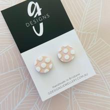 Stud Earrings - Clay - SPOTTY DOTTY - Regular Size - BLUSH PINK