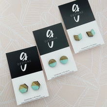 GLITTER EARRINGS - MINT