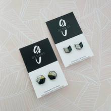 GLITTER EARRINGS - BLACK